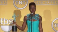 INTERVIEW Lupita Nyong'o at 20th Annual Screen Actors Guild Awards Press Room at The Shrine Auditorium on in Los Angeles California
