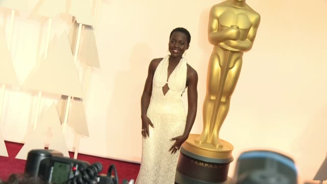 Lupita Nyong'o at 87th Annual Academy Awards Arrivals at Dolby Theatre on February 22 2015 in Hollywood California