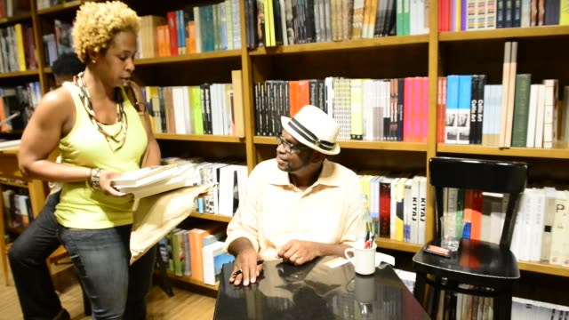 Luther Campbell discussing and signing copies of his books 'The Book of Luke My Fight for Truth Justice and Liberty City' at Books and Books Gables...
