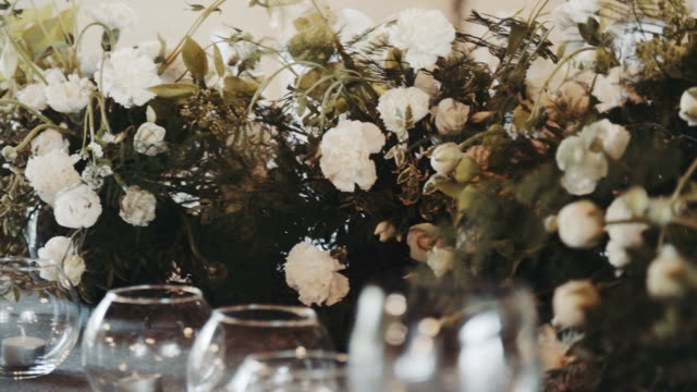 Luxury and elegant wedding table.