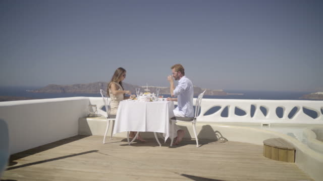 luxury breakfast couple veranda