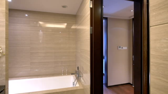 luxury sample bathroom interior and decoration,real time.