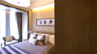 luxury sample bedroom and decoration, Real time.