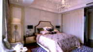 luxury sample bedroom interior and decoration, Real time.