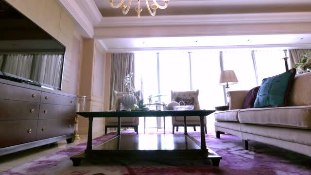 Campione di lusso salotto interno e decorazioni, tempo reale.