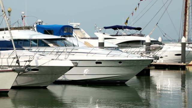 Luxury yacht boat stop