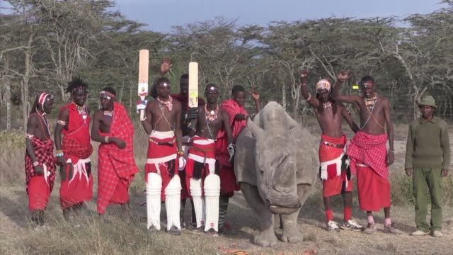 Maasai Warriors swap their spears for cricket bats in an effort to protect rhinos