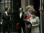 French referendum British reactions EXT 17TH SEPTEMBER 1992 Downing St MS Cabinet members leaving meeting PULL LIB No 10 OUT Douglas Hurd MP Gillian...