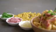 macaroni cheese and ham