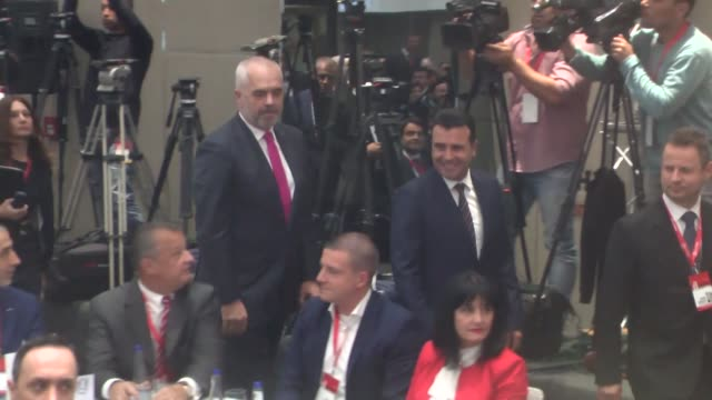 Macedonian Prime Minister Zoran Zaev Albanian Prime Minister Edi Rama Prime Minister of Montenegro Dusko Markovic and Chairman of the Council of...