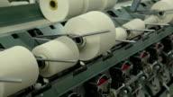 Machine at textile factory