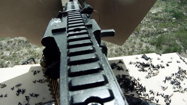 Machine gun fired from above