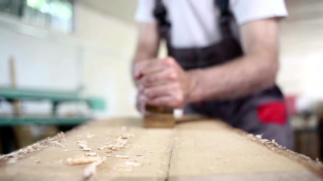 macro shot chisels for wood carpenter workshop
