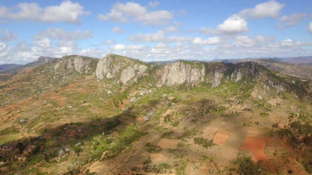 Madagascar Highlands Mountain Ridge Drone View