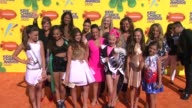 Maddie Ziegler Michele Gisoni Melissa Gisoni Kalani Hilliker and Abby Lee Miller at Nickelodeon's 28th Annual Kids' Choice Awards at The Forum on...