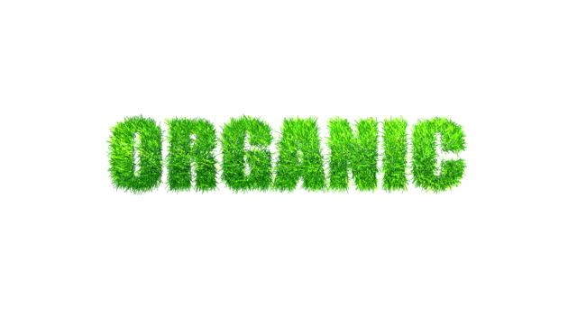 ORGANIC made with swaying grass.