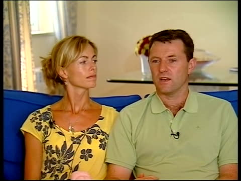 Parents interview PORTUGAL Praia Da Luz INT Kate McCann and Gerry McCann interview SOT discuss ongoing efforts to locate their missing daughter...