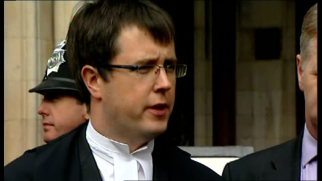 Express newspapers' apology to McCanns Clarence Mitchell statement outside court Press Q A session Adam Tudor speaking to press SOT [Asked if there...