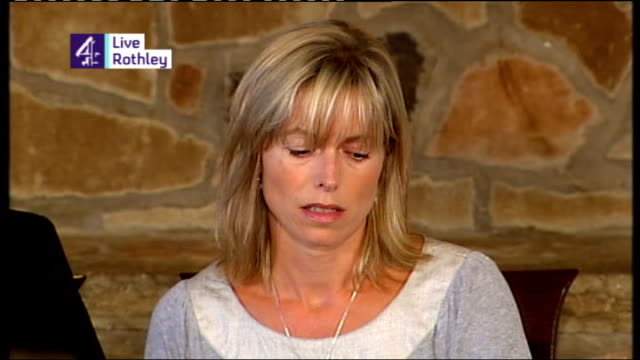 parents no longer suspects Clarence Mitchell press conference SOT Briefing press before the McCanns give their statement Kate McCann press conference...