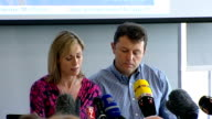 Kate and Gerry McCann anniversary interview Kate and Gerry McCann press conference SOT