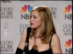 Madonna at the 1997 Golden Globe Awards at the Beverly Hilton in Beverly Hills California on January 19 1997
