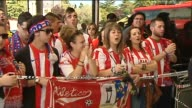 Madrid 10 May A large crowd of proud Atletico de Madrid fans were on hand to greet their team with shouts of 'Champions Champions' as the players and...