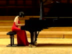 Pedro Pablo Perez Chinese pianist Yuja Wang performs in concert at the National Auditorium in Madrid Spain to coincide with the release of her latest...