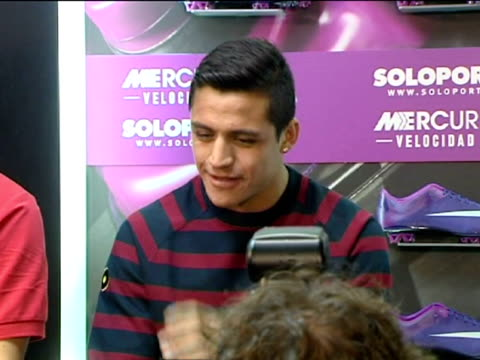 Madrid 23 feb FC Barcelona's Chilean forward Alexis Sanchez to improve and not comply with current situation Sanchez took part in a promotional event...