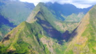 Mafate cirque from the mountain crest - Reunion Island