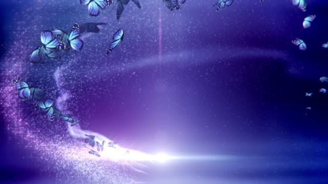 Magic Schmetterlinge (violett)-Loop