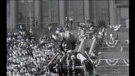 Mahalia Jackson speaks to a crowd of Thousands in Soldier Field waiting for Martin Luther King Jr on July 10 1966 in Chicago Illinois No audio