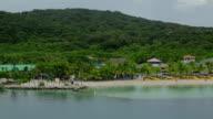 Mahogany Bay, Roatan, Honduras, aerial view
