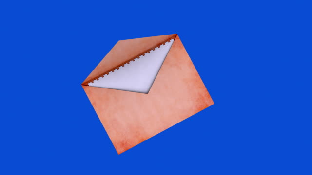 Mail with blue screen