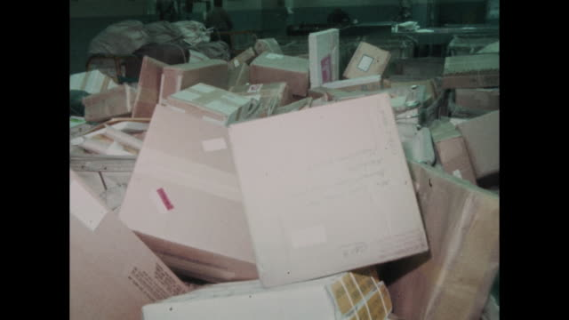 Mailbags and packages shown in behind the scene of U S Post Office Nashville Tennessee