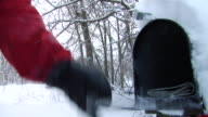 CO Mailbox in the snow/ Hand opening mailbox and taking mail/ Hortonville, Wisconsin