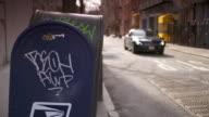 Mailbox with Graffiti on it in Greenwich Village in Manhattan