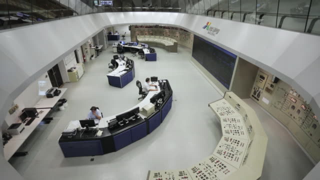 'WS, HA Main control room of Itaipu Binacional Dam / Foz do Iguacu, Brazil'