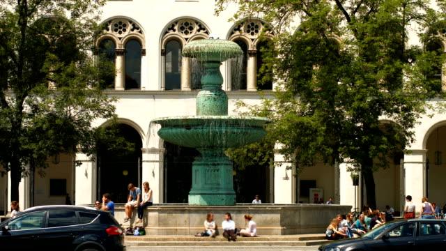 Main Entrance Of Munich University (4K/UHD to HD)