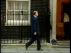 Main events/UK troops speculation ITN ENGLAND London Downing Street DAY LMS Robin Cook MP along to no 10 as arriving for war cabinet meeting MS Geoff...