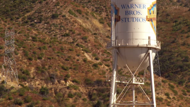 MS TU Main gate to water tower at Warner Brothers Studio / Burbank, California, USA