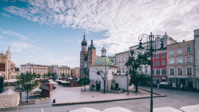 Main Market square of Krakow 4k resolution