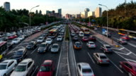 T/L WS Main road traffic Day-to-Night trasition / Beijing, China