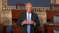 Maine Senator Angus King argues as debate on a healthcare block grant bills cosponsored by Louisiana Senator Bill Cassidy and South Carolina Senator...