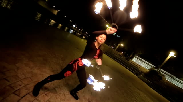 majestic fire dancing