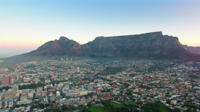 Majestic Table Mountain and the Cape Town city bowl