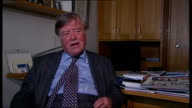 Kenneth Clarke interview Clarke interview SOT on Nick Clegg still tell Nick Clegg he is a Tory can't understand why he went off with the beards and...