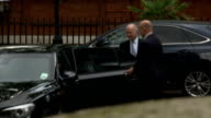 William Hague departs official residence in London ENGLAND London Westminster EXT William Hague MP departs home / into car/ car through gates
