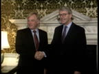 Major cancels trip to Spain CF TAPE NO LONGER AVAILABLE ENGLAND MS Fireplace as John Major MP with London Chris Patten next as to Downing St...