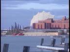 Major cancels trip to Spain EXT SPAIN AIRV Expo pavilions TX Seville MS Spanish pavilion ITN LMS Expo pavilions
