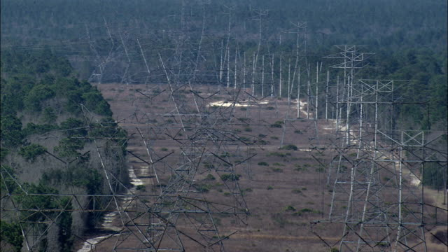 Major Power Lines  - Aerial View - Florida,  Sumter County,  United States